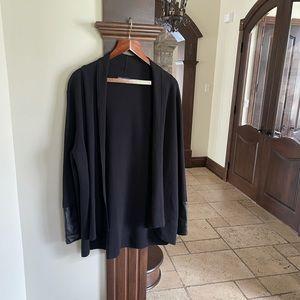 Karl Lagerfeld Black Cardigan Size XL
